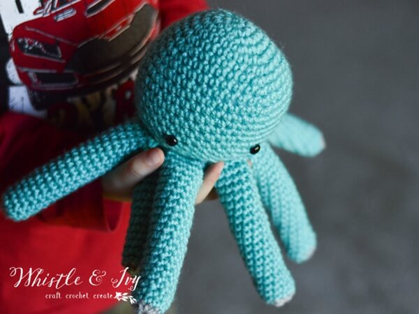 Crochet Baby Octopus Amigurumi