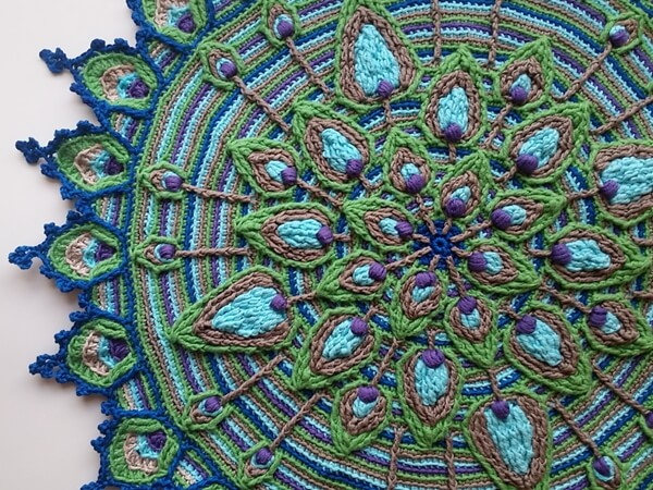Peacock Feather Mandala